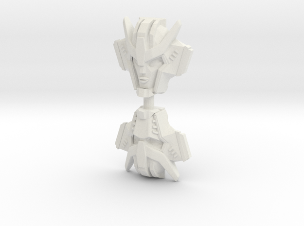 Strongarm Faceplate, IDW (Titans Return) in White Natural Versatile Plastic: Large