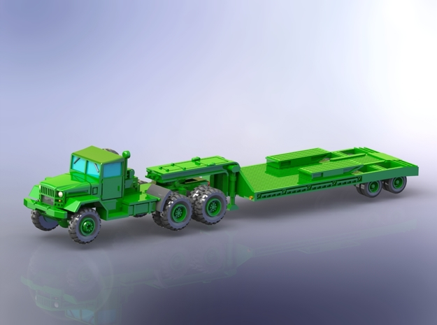 M123C Tractor w. M172 Lowbed Trailer 1/160 in Smoothest Fine Detail Plastic