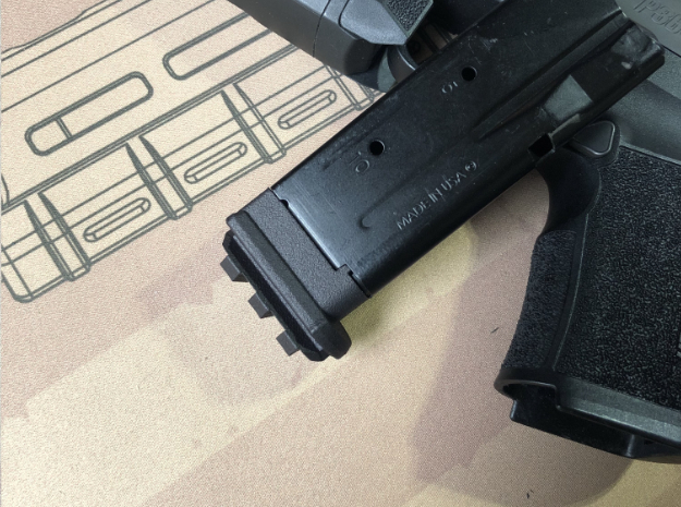10XL-Flat-Railed for Sig P365 XL 10 Round Magazine in Black PA12