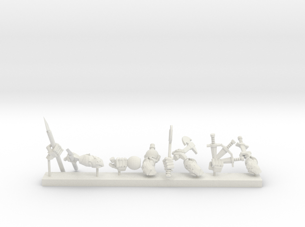 Weaponswapper Series: Throwing Weapons in White Natural Versatile Plastic