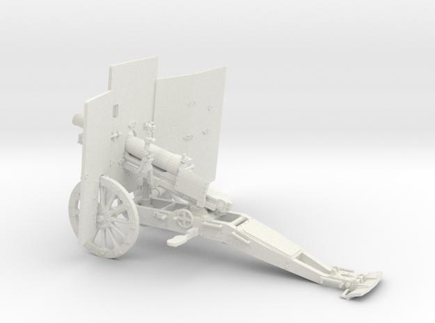 1/30 Cannone da 65/17 65mm Mountain Gun w/ shield in White Natural Versatile Plastic