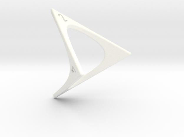 D4 Loop Dice in White Processed Versatile Plastic
