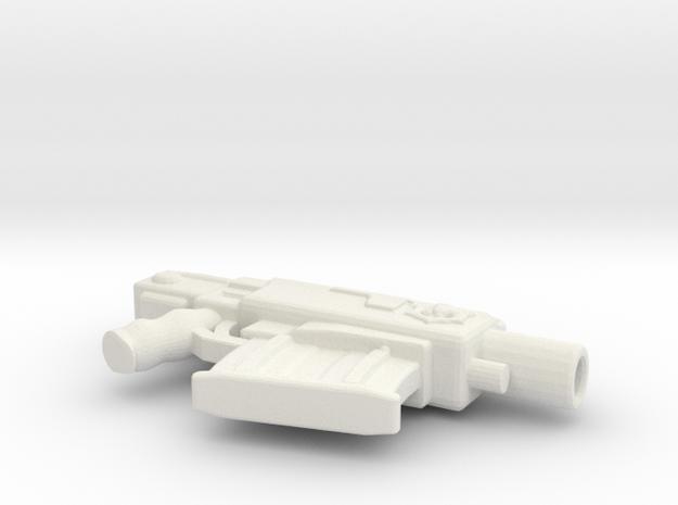 Bolt Pistol ver6inch in White Natural Versatile Plastic
