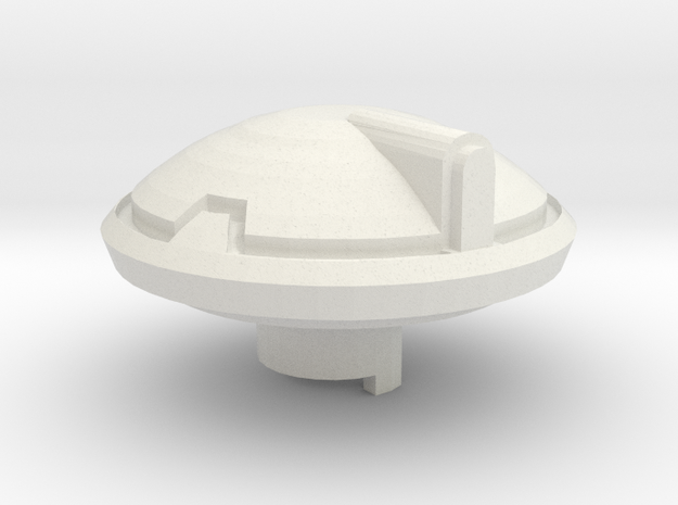 Scifi Tank Right front weapon mount  in White Natural Versatile Plastic
