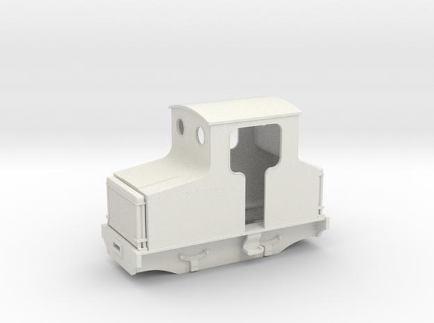 On18/O9 freelance Hawthorn Leslie petrol loco  in White Natural Versatile Plastic