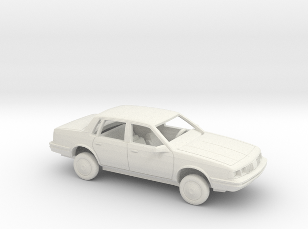 1/24 1987 Oldsmobile Cutlass Ciera Sedan Kit in White Natural Versatile Plastic