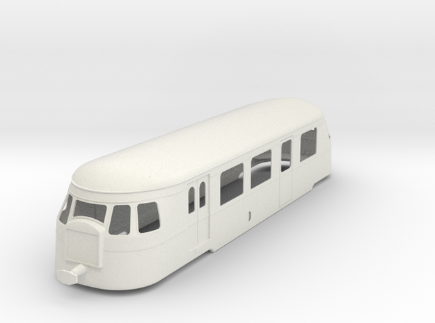 bl19-billard-a80d-ext-radiator-railcar in White Natural Versatile Plastic