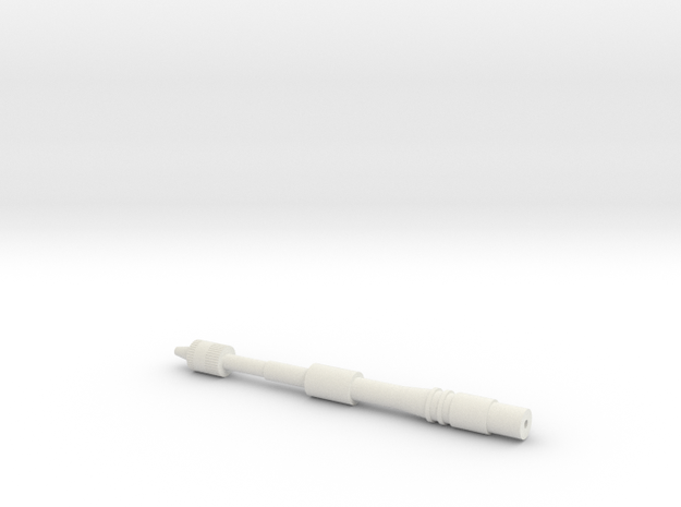 Bottom Tip in White Natural Versatile Plastic