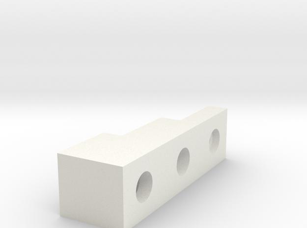 Front Block in White Natural Versatile Plastic