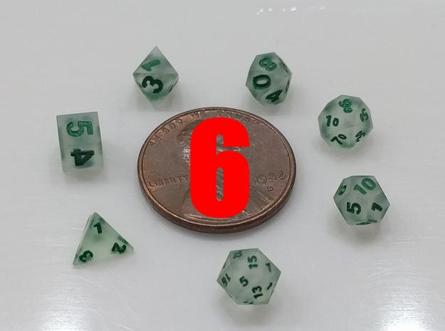 6x Super Tiny Polyhedral Dice Set, V3