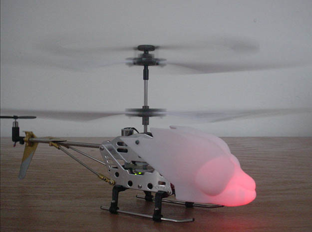 SYMA S107 Dragonfly canopy in White Strong & Flexible