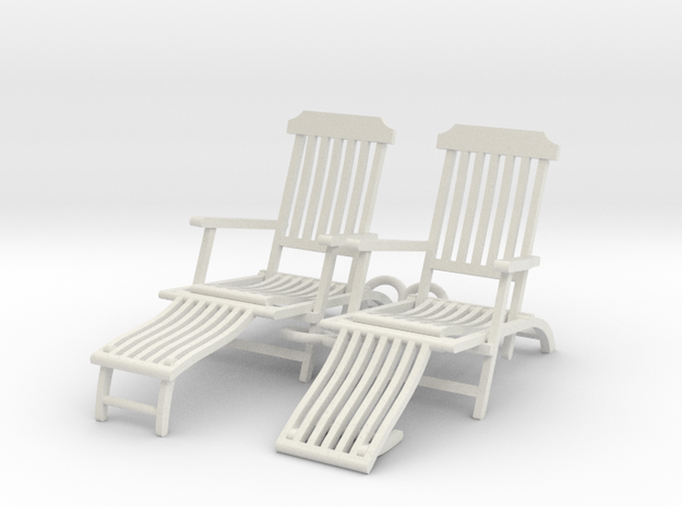 deck chair ergonomic 1to32 new2 pair up down in White Natural Versatile Plastic