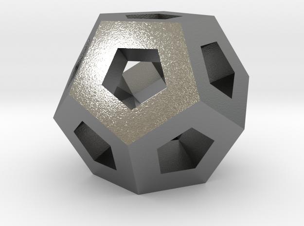 Lawal gmtrx v1 skeletal dodecahedron  in Natural Silver