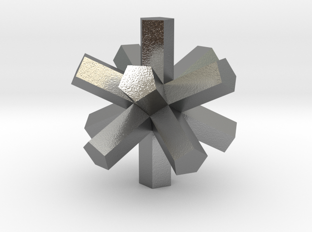 Lawal gmtrx extruded dodecahedron  in Natural Silver