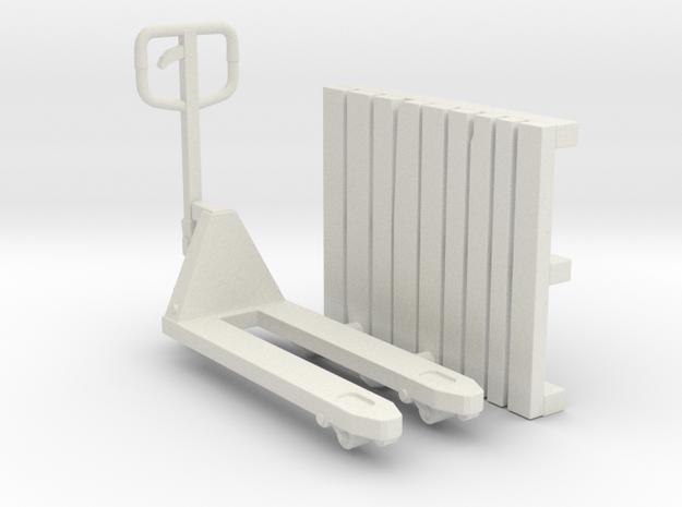 PalletJack 01. Scale 1:24 Rev02 in White Natural Versatile Plastic