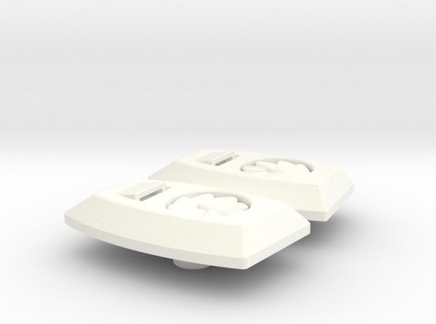 Tetrajet Thrust Lift Fans in White Processed Versatile Plastic