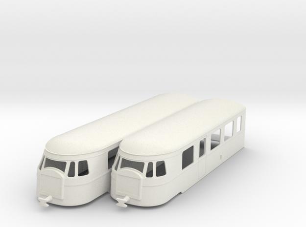 bl43-billard-a150d2-artic-railcar in White Natural Versatile Plastic