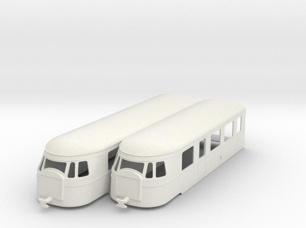 bl35-billard-a150d2-artic-railcar in White Natural Versatile Plastic