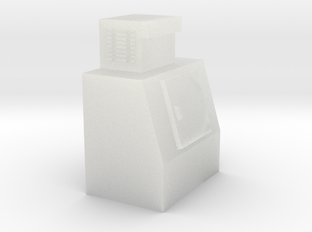 N-Scale Single Door Cooler in Smooth Fine Detail Plastic