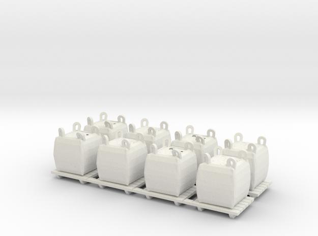 Big Bag Aggregate - HO 87:1 Scale in White Natural Versatile Plastic