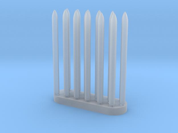 Laser Sword Blades in Smooth Fine Detail Plastic