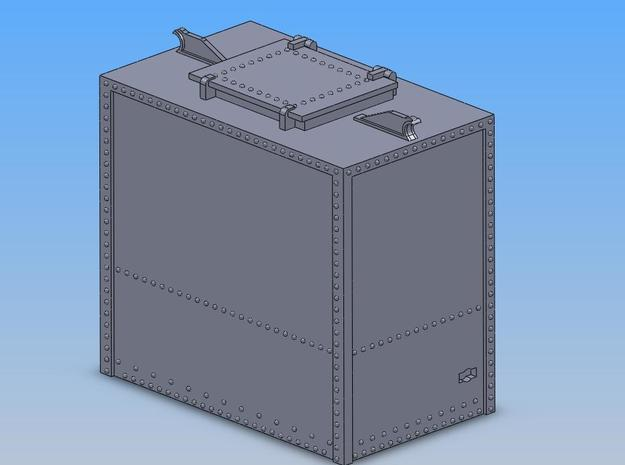 PRR HB1A Container S Scale in Smooth Fine Detail Plastic