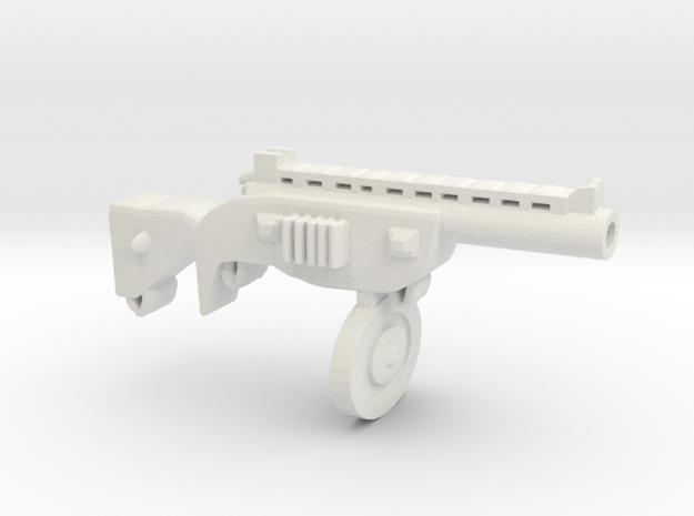 Automat Ppsh41 in White Natural Versatile Plastic