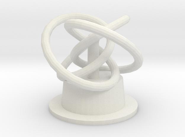 Statue 1 in White Natural Versatile Plastic