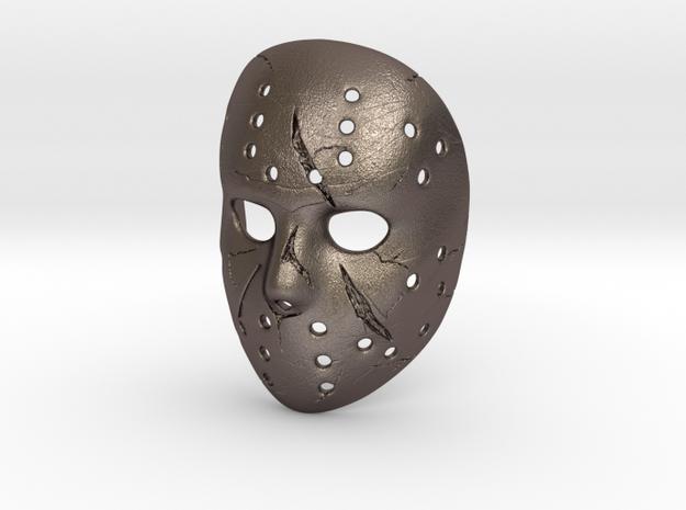 JASON Mortal Kombat X Pendant ⛧ VIL ⛧ in Polished Bronzed-Silver Steel