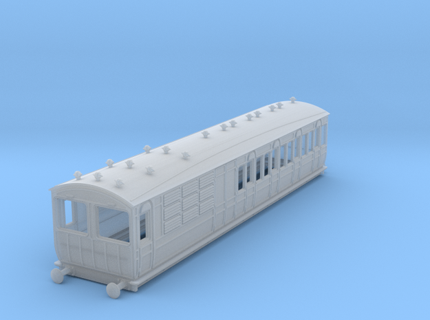 o-148fs-met-ashbury-chesham-brake-3rd-coach in Smooth Fine Detail Plastic