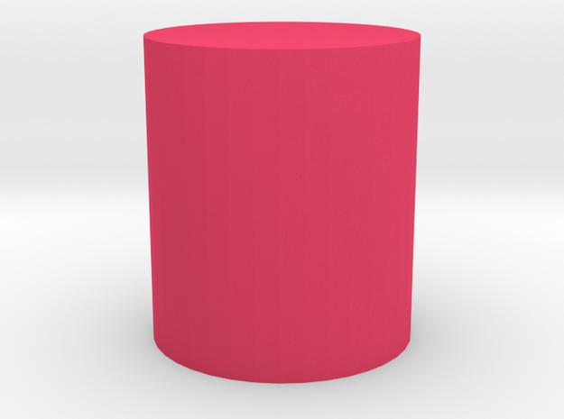 上蓋 in Pink Processed Versatile Plastic: Small