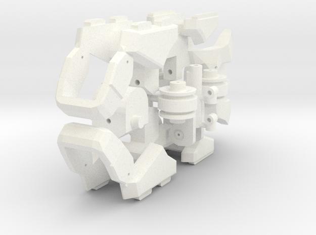 Workroid Feet (no wheels version) in White Processed Versatile Plastic