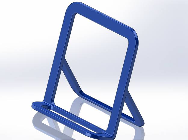 Cell Phone Smart Phone Stand Holder Android Iphone in Blue Processed Versatile Plastic