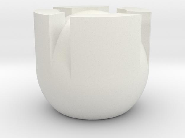 Minimal Chess Rook in White Natural Versatile Plastic
