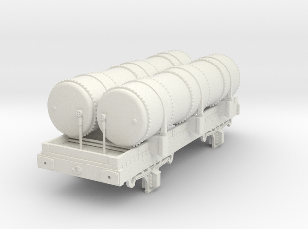 OO scale Metropolitan Railway Gas Tank in White Natural Versatile Plastic