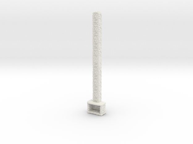 Stone Fireplace 1/64 in White Natural Versatile Plastic