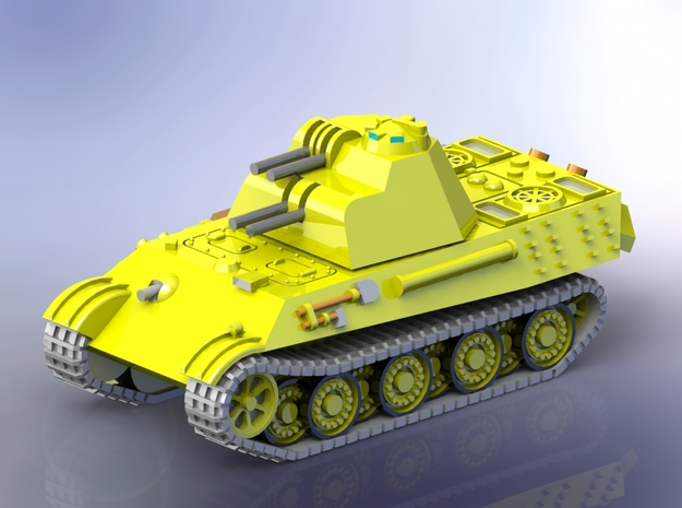 German Flakpanther Gerät 58 1/285 in Smooth Fine Detail Plastic