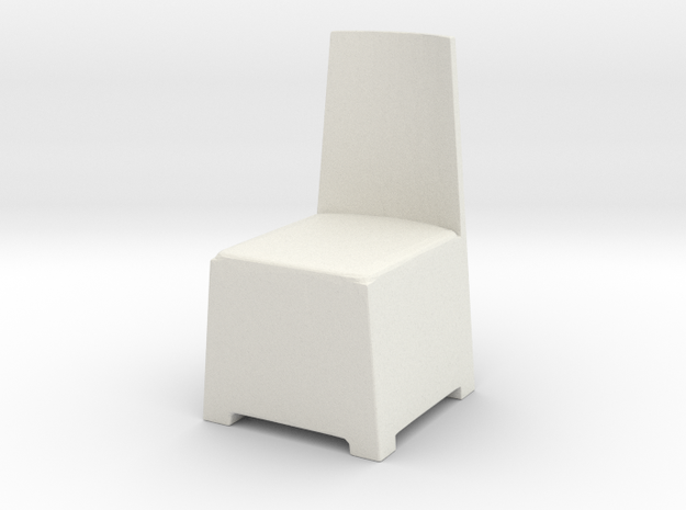 Modern Plastic Chair 1/12 in White Natural Versatile Plastic