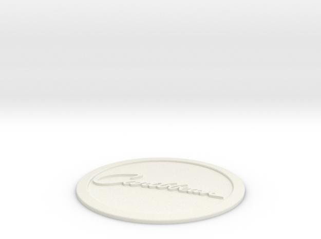 Caribbean Logo in White Natural Versatile Plastic