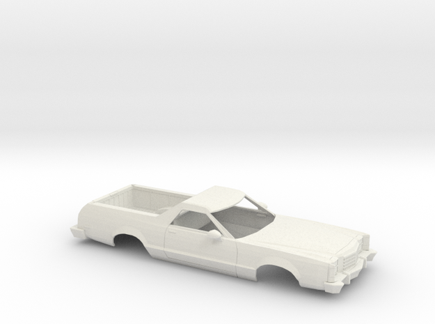 1/25  1977-79 Ford Ranchero Shell in White Natural Versatile Plastic