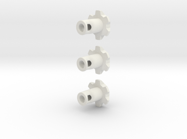 Saber Kill Key w/ Rotational On/Off (Set of 3) in White Natural Versatile Plastic