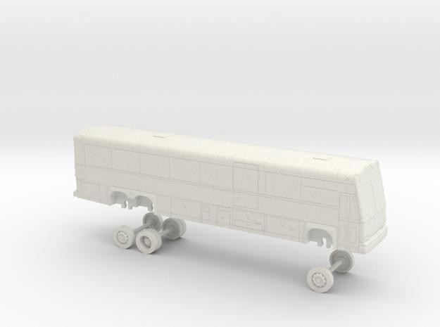 HO Scale Bus MCI D4500CT Soltrans 5100s in White Natural Versatile Plastic
