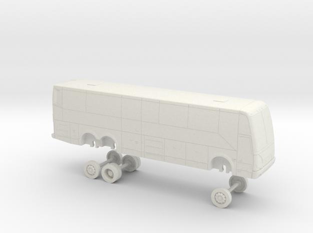 HO Scale Bus 2017 Prevost H3-41 American Stage 24 in White Natural Versatile Plastic