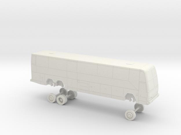 HO Scale Bus 2000 Prevost H3-45 Marin Airporter (2 in White Natural Versatile Plastic