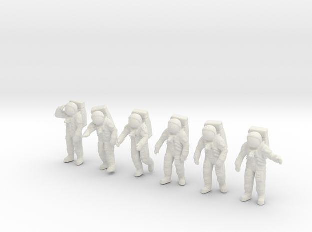 Apollo 11 Astronauts  1:72 in White Strong & Flexible