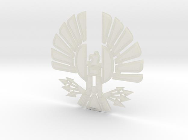 'Mockingjay' Panem Sigil Pendant for neclace in Transparent Acrylic