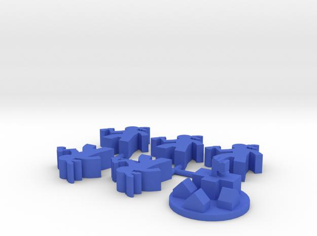 Custom Order, blue 3, 6-set in Blue Processed Versatile Plastic