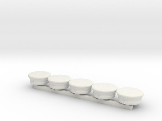 5 x German Kraetzchen in White Premium Versatile Plastic