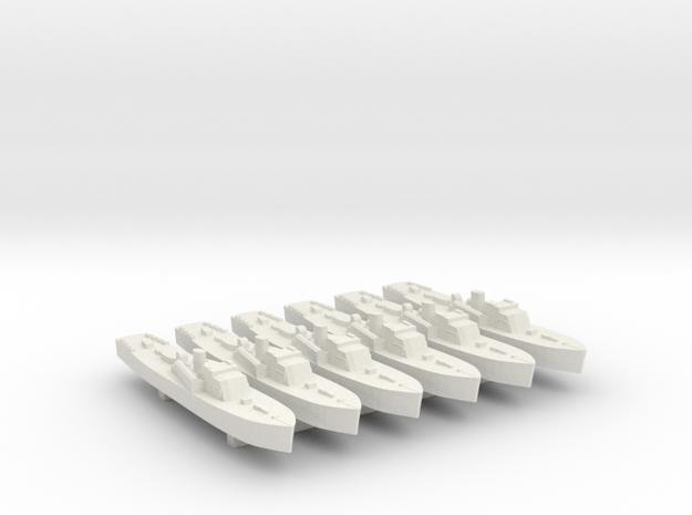 6pk Fairmile B motor torpedo boat VersPlas WW2 1:1 in White Natural Versatile Plastic