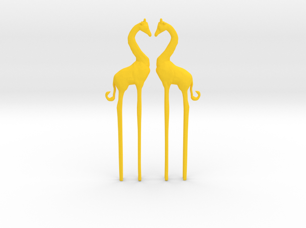 Giraffe in Love Caketopper 2X 3d printed